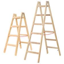 Hymer 71410 Holzleiter Sprossenstehleiter Stehleiter Sprossenleiter Holz