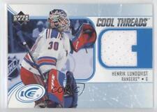 2005-06 Upper Deck Ice Cool Threads CT-HL Henrik Lundqvist New York Rangers Card