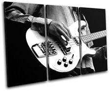 Guitar INSTRUMENTS Musical TREBLE DOEK WALL ART foto afdrukken