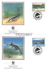 Romania 1994 Mi FDC 5034-37 WWF Fish Fisch Poissons Pesce Ryby Animals Tiere