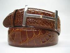 "Sterling silver 925 grand icon buckle 40 gr.& Genuine Alligator 1.5 "" belt U.S.A"