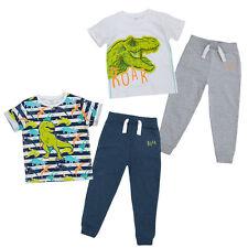 MiniKidz Boys Dinosaur Short Sleeved T Shirt & Jog Pants Set
