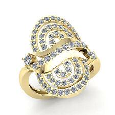 5ct Round Cut Diamond Wide Wavy Fancy Anniversary Wedding Band Ring 10K Gold