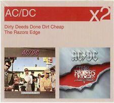 "AC/DC ""Dirty Deeds/razors Edge"" 2 CD set rare"