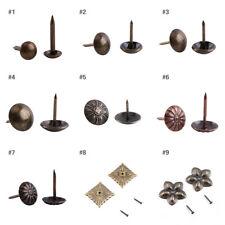 100Pcs Retro Upholstery Nails Bronze Metal Tags Sofa Door Decorative Tack Stud