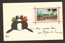 SAINT-JEAN-de-SAUVES (86) CHAT NOIR Amoureux René, COMMERCES