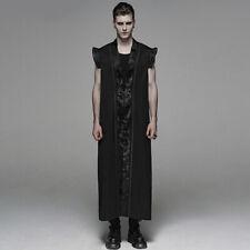 Punk Rave Gothic Herren Gewand Umhang - Black Pagoda Robe
