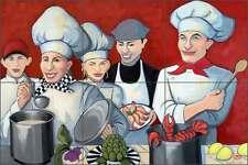 Ceramic Tile Mural Kitchen Backsplash Harrison Cooking Chef Art JHA020
