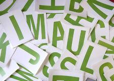 """115MM 4 1/2 """"Verde su Bianco Sticky lettere, Lettering adesivi, etichette in plastica"""