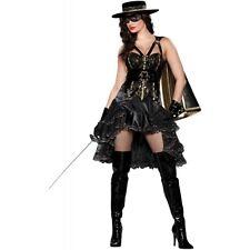 Zorro Costume Adult Bandita Halloween Fancy Dress