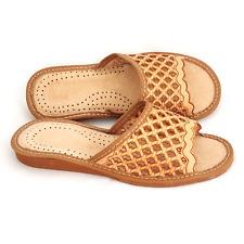 Femme Chaussure Cuir Pantoufle Chausson Mules Tong Naturel Taille 36 au 41