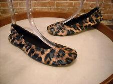 Foot Petals Leopard Quilted Commuter Travel Ballet Flats NEW