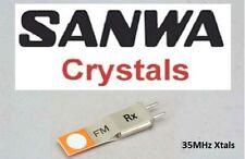 Sanwa 35mhz FM CRISTALES xtals RX receptor Chip Mando a distancia Aviones de RC