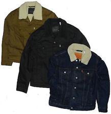 Levis Jackets Men's Twill Denim Sherpa Trucker Many Colors Sizes