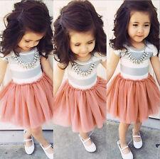 Kinder Stripe Prinzessin Kleid Cosplay Partykleid Mädchen Kostüm Freizeitkleider
