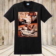 Brand New The Ford Automobile 1908 Sheet Music T-Shirt Custom Made Car tshirt