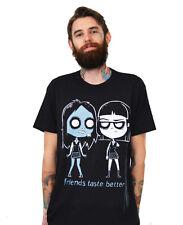 Akumu Ink Mens Friends Taste Better Black Short Sleeve T Shirt