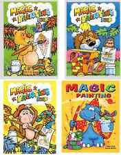 Set di 12 x A6 MAGIC Pittura Libri Da Colorare Bambini No Mess Craft SERIE 1025
