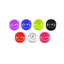 Silikon Flesh Tunnel Spirale Farb Ohr Plug Piercing Extra Soft Weich Flexibel