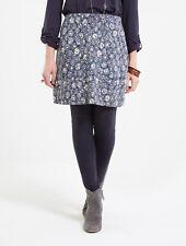 Nomads Funky Short Winter Mini Skirt Organic Jersey Cotton Blue FairTrade DL32