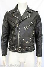 Brando Black Studded Men's Classic Motorcycle Biker Real Cowhide Leather Jacket