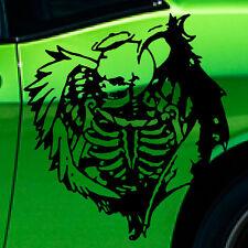Angel of Death Distressed Skull Wing Grunge Car Graphic Decal Sticker Hood Vinyl