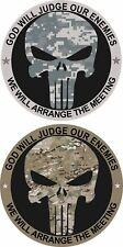 "Punisher ACU or Multicam Army Military Vinyl Decal Sticker Car Truck 5"""