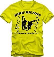 T-shirt boston terrier perros camisa camiseta con motivo de perros colores V.