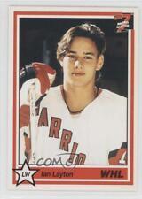 1990 7th Inning Sketch WHL #154 Ian Layton Greenville Road Warriors (ECHL) Card
