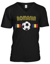 Romania Soccer Ball Flag - Pride Romanian Mens V-neck T-shirt