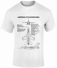 T-Shirts FPBP202 General Dynamics F-16 Fighting Falcon aircraft FantasyPrintshop