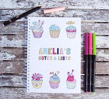 Carino Cupcake idea regalo personalizzato NOTEBOOK VARIE TAGLIE