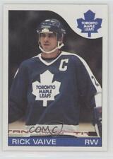 1985-86 Topps #106 Rick Vaive Toronto Maple Leafs Hockey Card