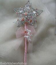 Mariage Fleur Fille Demoiselle D'honneur Star Wand Posy Bouquet Posie Strass & Perles
