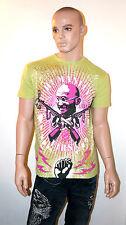 CHRISTIAN AUDIGIER Ed Hardy GANDHI Shirt RHINESTONE Humanity GREEN S L XL 2XL
