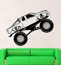 Wall Sticker Vinyl Decal Monster Truck Race Car Garage Decor (ig2116)