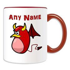 Personalised Gift Devil Bean Mug Money Box Cup Fairy Tale Evil Name Message Tea