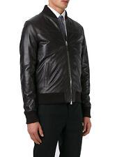 UK Man Men GENUINE Leather Jacket Biker Coat Slim Fit Veste Homme Cuir R51c