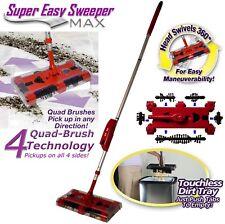 Cordless Swivel Sweeper Max Generation 8 RCR tech Remove Clean Reuse Bristles