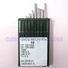 10 Groz-Beckert UYX128GAS / UYX128GBS / TVX3 CoverStitch Machine Needles