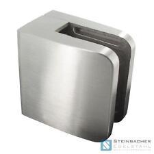 Edelstahl Glashalter 52 x 52mm Glasklemme Blechklemme Klemme V2A V4A