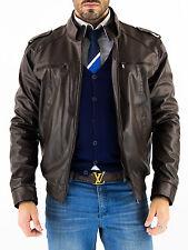 US Men Leather Jacket Hommes veste cuir Herren Lederjacke chaqueta cuero Q7app2