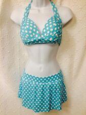 Venus 2 pc swimsuit size 4 skirt bottom & C cup dottie halter top  NWT swimwear