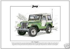 "WILLYS ""JEEP CJ-5 RENEGADE 1-FINE ART PRINT A4"