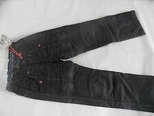 CARBONE coole schwarze Jeans m. Kniefalten Gr. 122 NEU