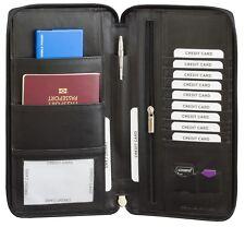 Travel Wallet Passport Holder Rfid Organiser Pouch Cards Family Document Money