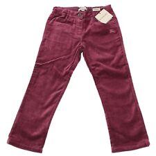 5951M pantaloni bimba bordeaux BURBERRY velluto pantalone trousers pants kids