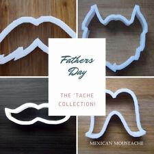 Moustache Beard Cookie Cutter Biscuit Dough Pastry Fondant Stencil 4 designs