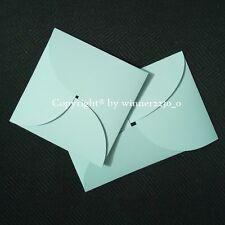 Premium Light Blue SQUARE / RECTANGLE Petal Invitation Envelope Pocket Pochette