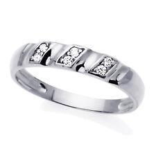 Men 14K White Gold Cz Concaved Wedding Band Ring / Free Gift Box
